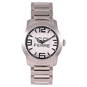 GF Ferre Men's White Dial Casual Watch Stainless Steel Strap - GFP9098M/06M