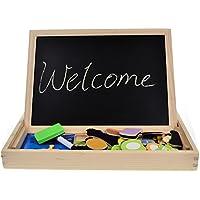 FunBlast Multifunctional Magnetic Wooden Chalkboard Kids Educational Toys Game Whiteboard Blackboard Drawing Toys for Children,Size- 30*23 cm