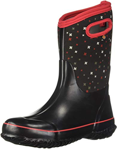 Bogs Kids' Classic High Waterproof Insulated Rubber Neoprene Rain Boot Snow, Plus Black/Multi, 9 M US Toddler