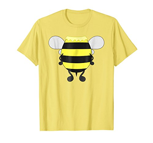 Mens Funny Bee Costume Easy Shirt - Honeybee Halloween Cheap Gift Large Lemon