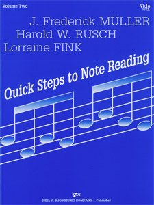 Note Book Reading (Fink/Muller/Rusch - Quick Steps To Note Reading, Book 2 - Violin - Neil A Kjos Music Co)