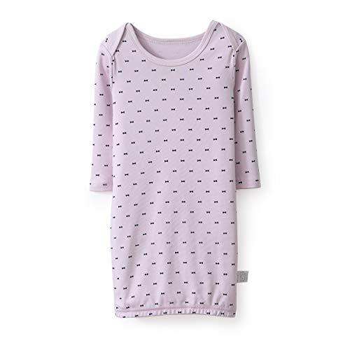 Miliport Girl Nightdress Cotton Sleepwear Loose Scoopneck Rouge Neck Nightie Short Nightgowns Knit 3/4 Sleeve Sleepshirts 3-12M (Purple, - Sleeve Sleepshirt