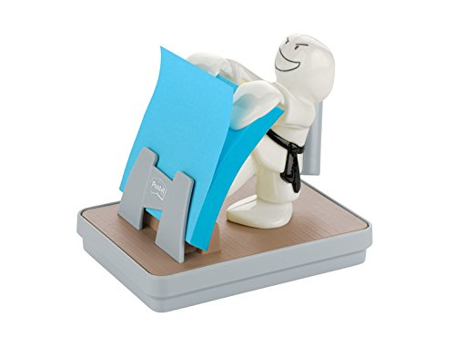Post-it Brand Dispenser Ricaricabile e una Ricarica di Foglietti Post-It Z-Notes, 76 mm x 76 mm, Mela 3M APL-330