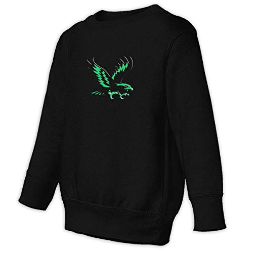 (American Bald Eagles Stylish Round Collar Sweaters Toddler Juvenile Sweatshirt Pullover for Kids Black)