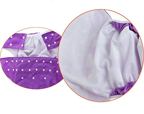 Brown Teen//Adults Cloth Diapers with 2pcs Inserts for Incontinence Care LukLoy Dual Opening Pocket Washable Adjustable Reusable Leakfree