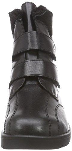 Ganter ELLEN-STIEFEL, Weite G - botas de caño bajo de cuero mujer negro - Schwarz (schwarz 0100)