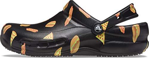 Crocs Unisex Men's and Women's Bistro Clog | Slip Resistant Work Shoes, Food Print, 11 US