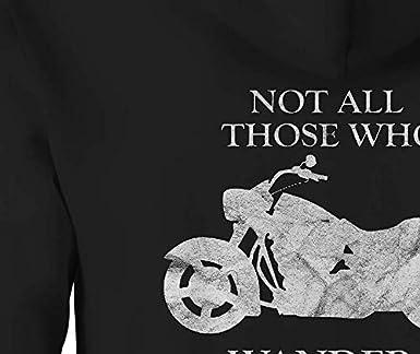 Motorcycle Zip Up Hoodie Who Wander Hooded Sweatshirt for Men