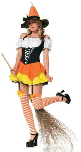 Candy Corn Witch Adult Costume -