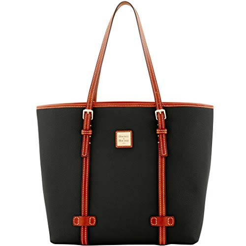 Dooney & Bourke Pebble Leather East/West Shopper Tote Black