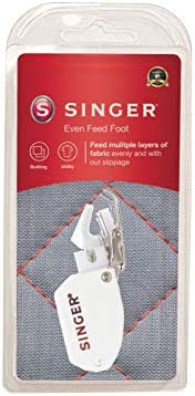 SINGER | Even Feed / Walking Presser Foot - Fork, Perfect for Matching Stripes & Plaids, Quilting & Se