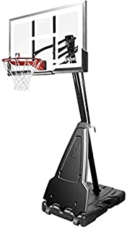 Spalding–Canestro Portatile NBA Platinum, Colore: Trasparente