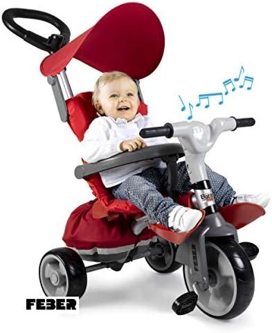 FEBER Famosa 800012146 - Baby Plus Music Prime, evolution Dreirad mit Musik