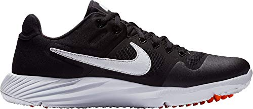 - Nike Men's Alpha Huarache Elite 2 Turf Baseball Cleats (13, Black/White)