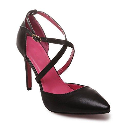 Negro Material De La Mujer Sintético Modeuse Vestir Zapatos xqCw0T7