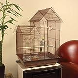 Petco Designer Brown Ranch Style Top Cockatiel Cage, My Pet Supplies