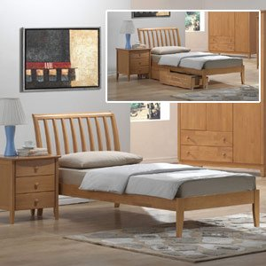 Joseph Wales 4ft Small Double Wooden Bedstead Trundle Bed Amazon