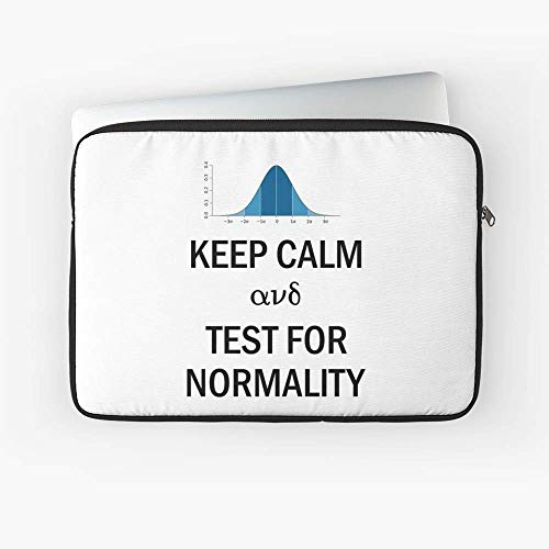 Keep Calm and Test for Normality Normal Bell Curve for Data Science Geeks and Scientists Laptop Sleeve