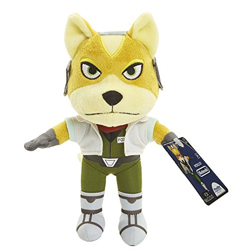 World of Nintendo 88794 Star Fox Plush, 7.5-Inch