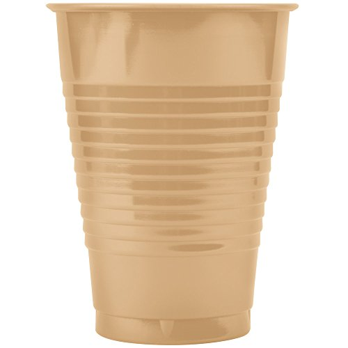 Creative Converting 28191081 16 oz. Sunkissed Orange Plastic Cup - 240/Case