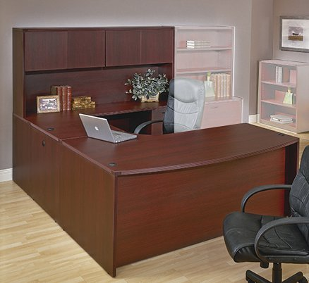 napa collection ushaped desk with hutch