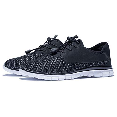 KENSBUY Men's Walking Sneakers Lightweight Mesh Lace Up Shoes(Black EU41) by KENSBUY (Image #7)