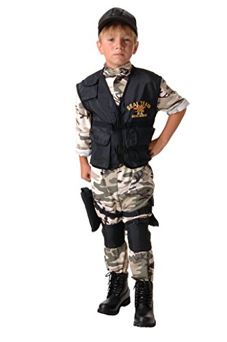 Underwraps Big Boy's Kids Seal Team Costume - Medium Childrens Costume, camo/Black, Medium ()