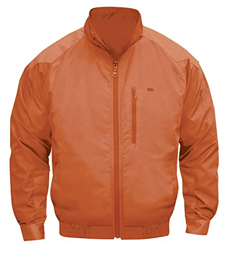NSP 空調服 服単体 チタンコーティング 立ち襟 肩袖補強あり オレンジ M 8208391 B01GO4KZQE M
