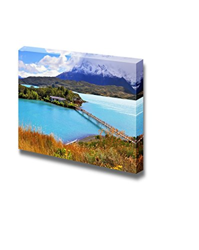 Beautiful Landscape Scenery Picturesque Little Island in the Lake Pehoe Wall Decor