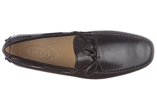 Tod's mocasines en piel hombres nuevo laccetto occhielli gommini negro
