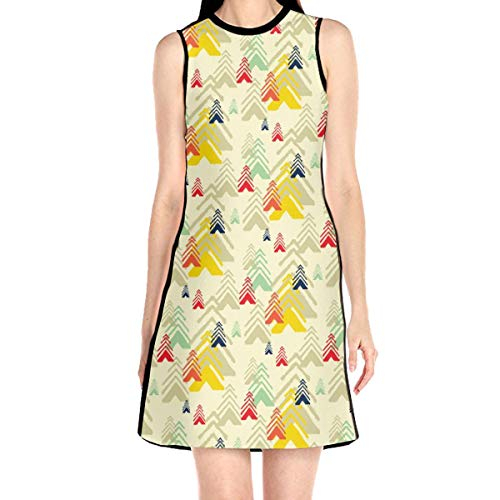 Laur Women¡¯s Sleeveless Scuba Sheath Dress Abstract Pattern Print Casual/Party/Wedding Dress L White