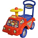 Push Along Smart Ride On Car Fire Engine Truck Walker Toy With Under Seat Storage