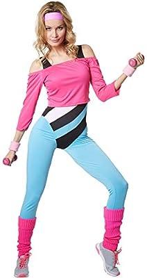 dressforfun 900572 Disfraz de Mujer, Profesora de Aerobic, Años 80 ...