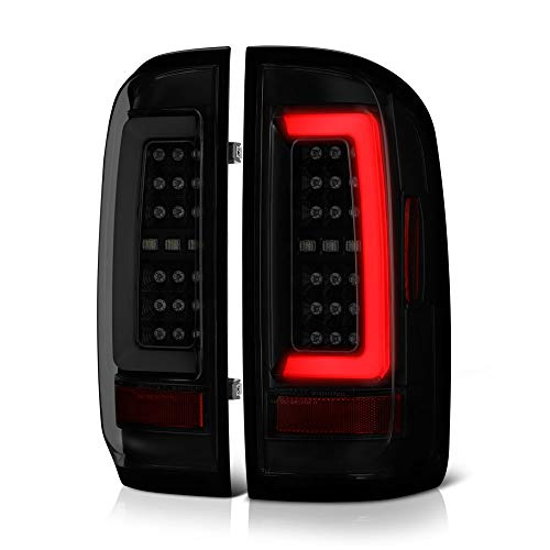 Chevy Colorado Driver Design - [For 2015-2019 Chevy Colorado & GMC Canyon Pickup Truck] Black Smoke Premium OLED Neon Tube Full-LED Tail Light Lamp Assembly, Driver & Passenger Side