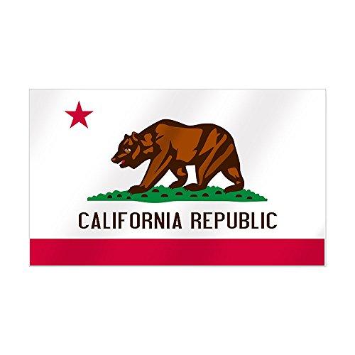 CafePress - California Flag Sticker (Rectangle) - Rectangle Bumper Sticker Car - Sf Ca Buy Best