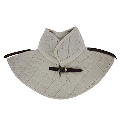 NAUTICALMART Cotton Padding Collar Armor Medieval Garment White