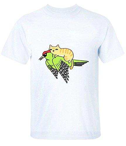 break-time-mens-cat-on-woodpecker-particular-short-sleeve-t-shirt-white