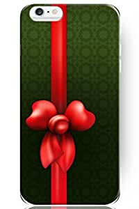 ZLXUSA(TM) Special Design Pattern Hard Cute Red Bowknot for Apple 6 (4.7 Inches) iPhone Christmas Case