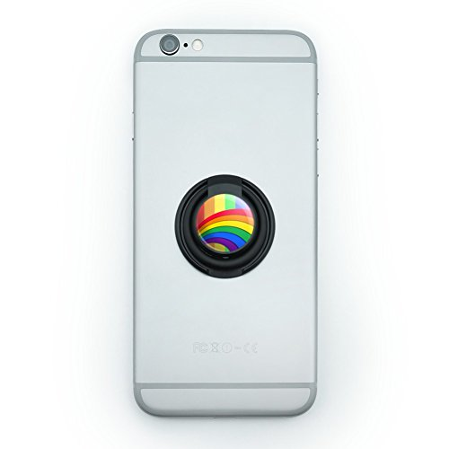 Double Rainbow Pride Arc Mobile Smart Phone Finger Ring Grip Holder Stand ()