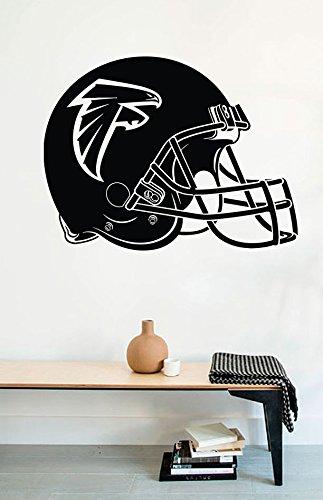 Atlanta Falcons Helmet Wall - Wall Decals Atlanta Falcons Logo Helmet American Football Vinyl Stickers Mural M0333