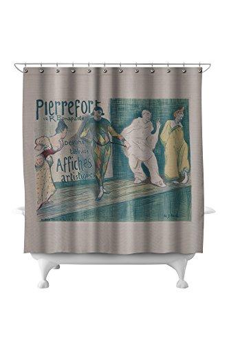 (Pierrefort 12 R Bonaparte - Dessins Tableaux Affiches Artistiques Poster (artist: Ibels) France (71x74 Polyester Shower Curtain))