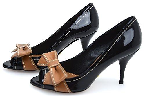 Prada Zapato de Tacón Abierto EN Punta Para Mujer Pintura Negro Art. 1K078D 36,5 Nero - Black
