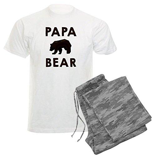 CafePress - Papa Bear Pajamas - Unisex Novelty Cotton Pajama Set, Comfortable PJ Sleepwear