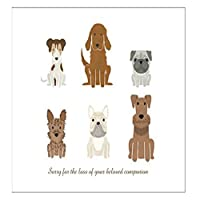 Pet Bereavement Gifts Wind Chime - Sympathy Memorial Card with a Condolences note and a Gift Bag in memory of A Loss of a Dog