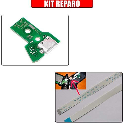 Kit Reparo Controle Ps4 - Placa Usb Jds-040 + Cabo Flat Jds-040 12 Vias