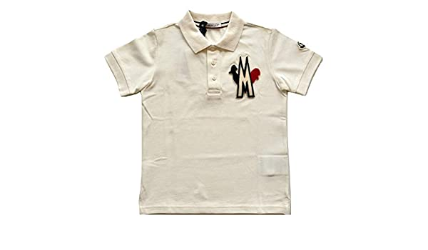 MONCLER Junior E2 954 8312305 84632 - Polo para niño, Color Blanco ...