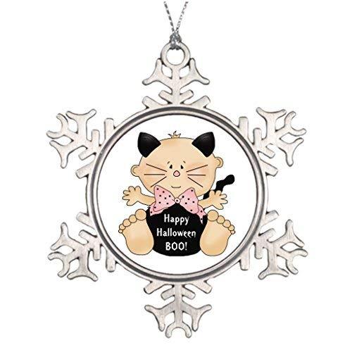 OneMtoss Christmas Snowflake Ornament Large Christmas Tree Decorations New Fun Halloween Cat Costume Baby Girl Pin Xmas Trees ()