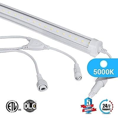 1-Pack T8 4ft LED Freezer/Cooler Tube ; V Shape ; 18W 5000K ; Clear