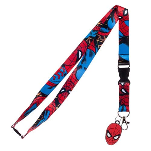 Marvel Comics SPIDERMAN Homecoming ID Holder LANYARD Break-Away Keychain w/Logo Charm