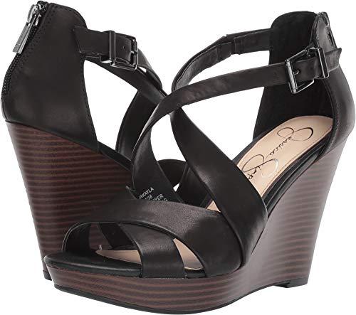 Jessica Simpson Women's Jakayla Sandal, Black, 8 M US (Platforms Jessica Leather)